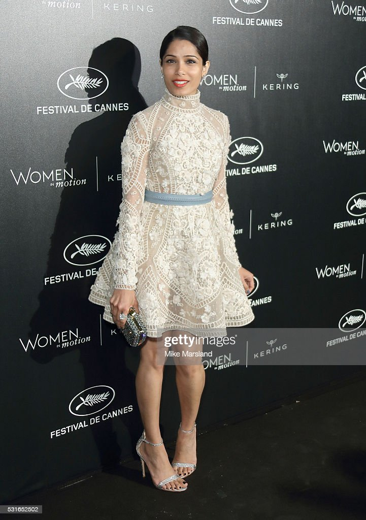 <a gi-track='captionPersonalityLinkClicked' href=/galleries/search?phrase=Freida+Pinto&family=editorial&specificpeople=5518973 ng-click='$event.stopPropagation()'>Freida Pinto</a> attends the 'Women in Motion' Prize Reception part of The 69th Annual Cannes Film Festival on May 15, 2016 in Cannes, France.