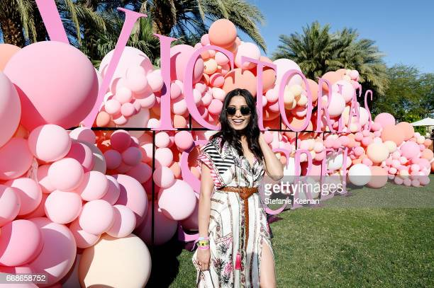 Freida Pinto attends Victoria's Secret Angels Celebrate the Sexy Little Things Launch at the Angel Oasis on April 14 2017 in Indio California