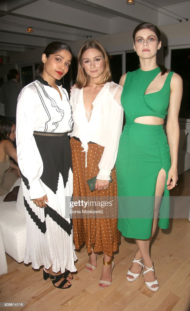 Freida Pinto, Olivia Palermo, and Alexandra Daddario attend the Women's Health:Party Under the Stars Benefit for The Feed Foundation at The Bridgehampton Tennis & Surf Club on August 5, 2017 in Bridgehampton, New York.