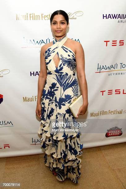 Freida Pinto recipient of the Shining Star Award attends day two of the 2017 Maui Film Festival at Wailea on June 22 2017 in Wailea Hawaii