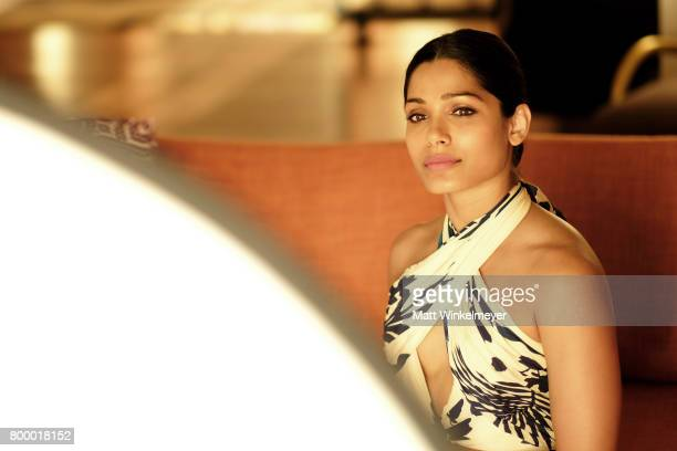 Freida Pinto recipient of the Shining Star Award poses for a portrait during day two of the 2017 Maui Film Festival at Wailea on June 22 2017 in...