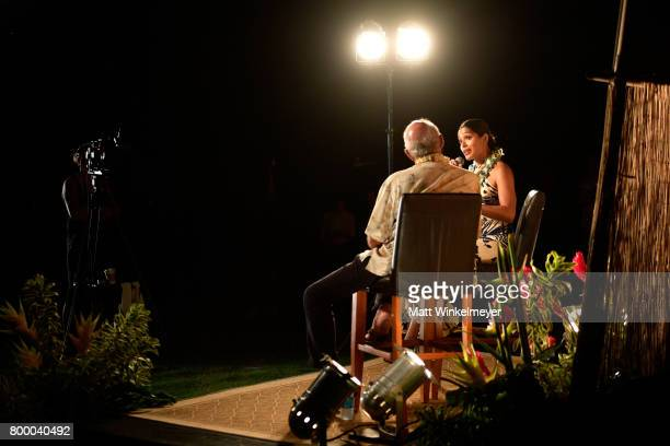 Freida Pinto recipient of the Shining Star Award speaks during the 'Celestial Cinema' on day 2 of the 2017 Maui Film Festival at Wailea on June 22...