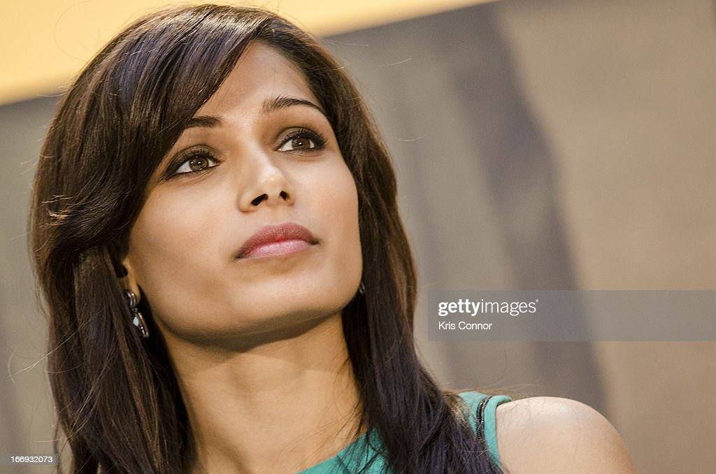 <a gi-track='captionPersonalityLinkClicked' href=/galleries/search?phrase=Freida+Pinto&family=editorial&specificpeople=5518973 ng-click='$event.stopPropagation()'>Freida Pinto</a> speaks during the Girl Rising: A Rally for Girls and Women screening at The World Bank on April 18, 2013 in Washington, DC.