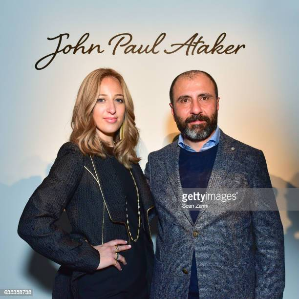 Freida Rothman and Numan Ataker at the John Paul Ataker Show featuring Freida Rothman Jewelry during New York Fashion Week at Pier 59 Studios on...
