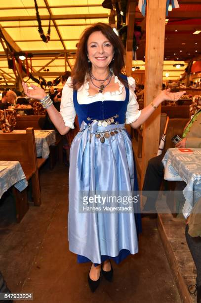 Freifrau Uschi Daemmrich von Luttitz during the opening of the 2017 Oktoberfest beer festival in the Schottenhamel beer tent at Theresienwiese on...