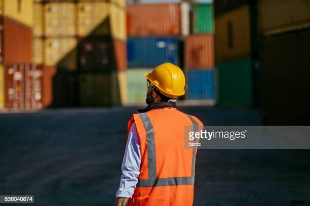 Communication au Terminal à conteneurs d'expédition de fret