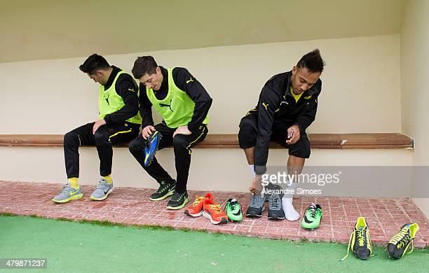 Freitag 1 Fussball Bundesliga Saison 13/14 in La Manga / SpanienBV Borussia Dortmund im Trainingslager La Manga in SpanienIlkay Guendogan Robert...