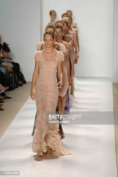 Freja Beha Erichsen and models wearing J Mendel Spring 2006