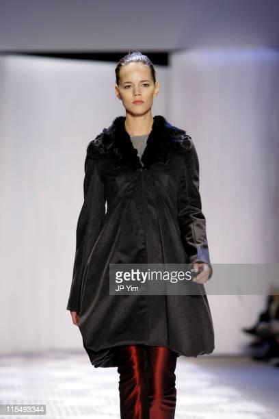 Freja Beha Erichsen wearing Carlos Miele Fall 2006