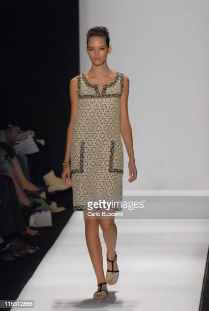 Freja Beha Erichsen wearing Carolina Herrera Spring 2007