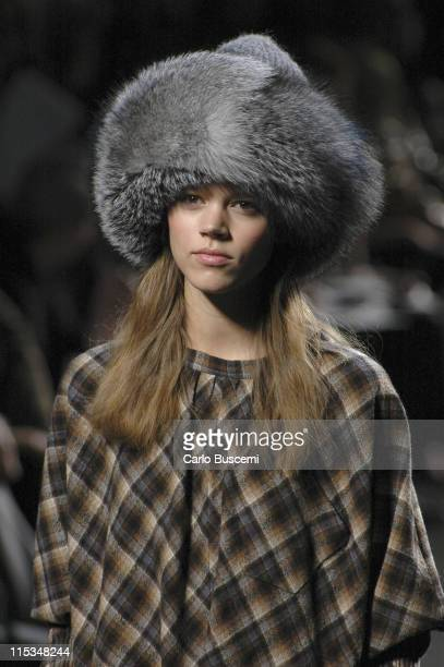 Freja Beha Erichsen wearing Marc Jacobs Fall 2006 during Olympus Fashion Week Fall 2006 Marc Jacobs Runway at NY State Armory in New York City New...