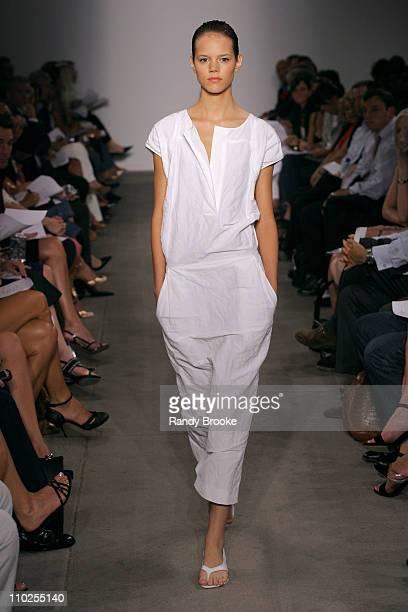 Freja Beha Erichsen wearing Narciso Rodriguez Spring 2006