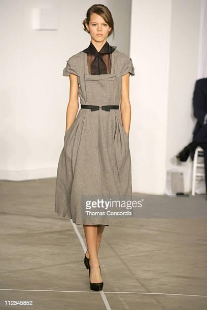 Freja Beha Erichsen wearing Roland Mouret Spring 2006