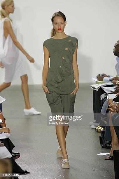 Freja Beha Erichsen wearing TSE Spring 2007 during Olympus Fashion Week Spring 2007 TSE Runway at Lux in New York City New York United States