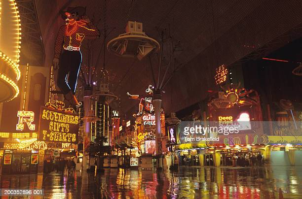 Fremont Street at night, Las Vegas, Nevada