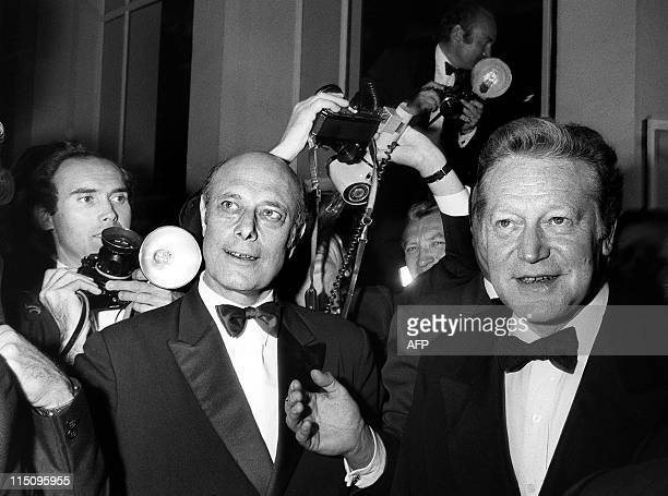 French Academician and Culture minister Maurice Druon arrives on May 11 1973 to attend the opening ceremony of the International Cannes film Festival