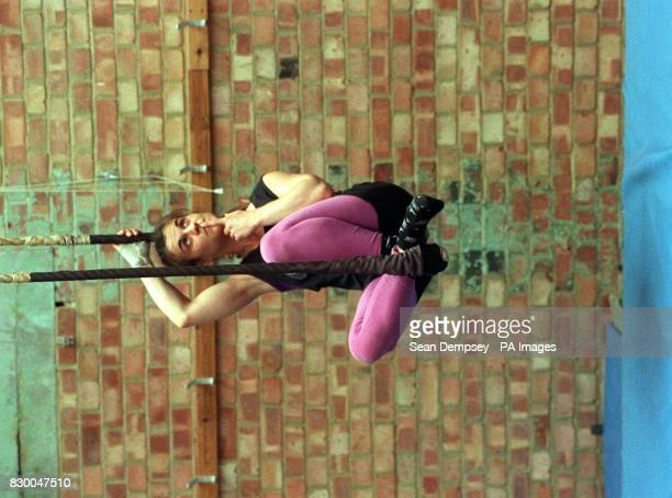 French acrobat Sylvie Boyer one of many young dance and acrobat hopefuls who today strained bodies and minds in an attempt to be chosen to perform in...