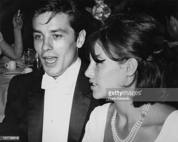 French actor Alain Delon and his wife Nathalie circa 1965