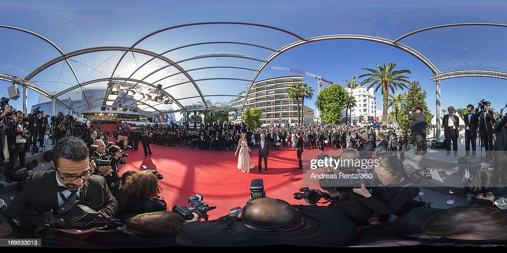French actor Alain Delon and Marine Lorphelin attend the 'Zulu' Premiere and Closing Ceremony during the 66th Annual Cannes Film Festival at the Palais des Festivals on May 26, 2013 in Cannes, France.