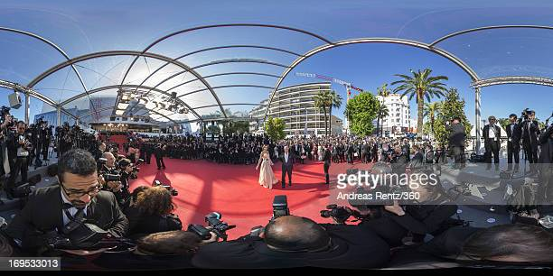 French actor Alain Delon and Marine Lorphelin attend the 'Zulu' Premiere and Closing Ceremony during the 66th Annual Cannes Film Festival at the...