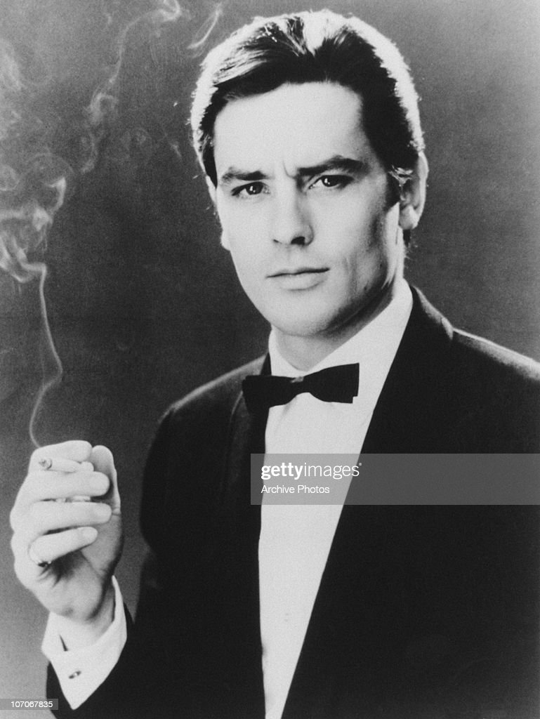 French actor <a gi-track='captionPersonalityLinkClicked' href=/galleries/search?phrase=Alain+Delon&family=editorial&specificpeople=228460 ng-click='$event.stopPropagation()'>Alain Delon</a> as he appears in 'The Big Snatch', aka 'Any Number Can Win', 1963.