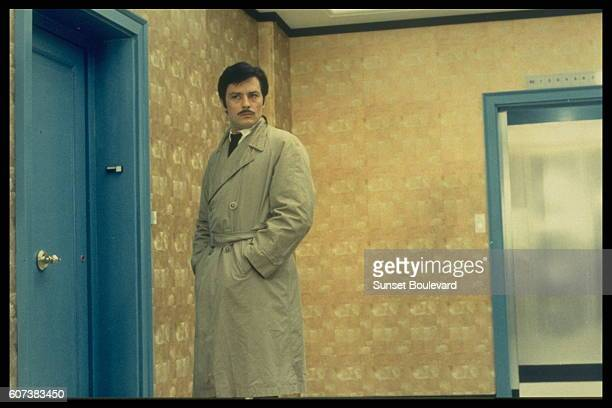 French actor Alain Delon on the set of Le Cercle Rouge written and directed by JeanPierre Melville