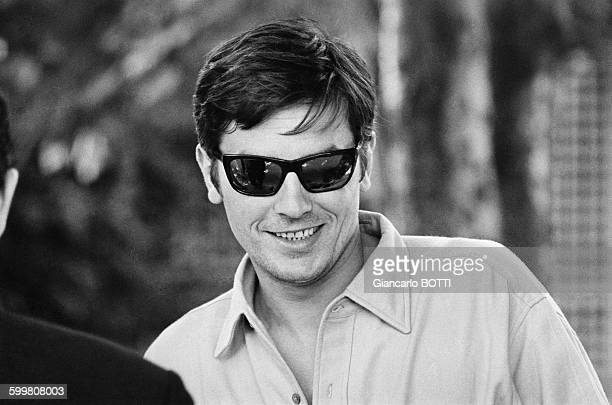 French actor Alain Delon on the set of the crime thriller film 'The Samourai' directed by JeanPierre Melville in France in July 1967