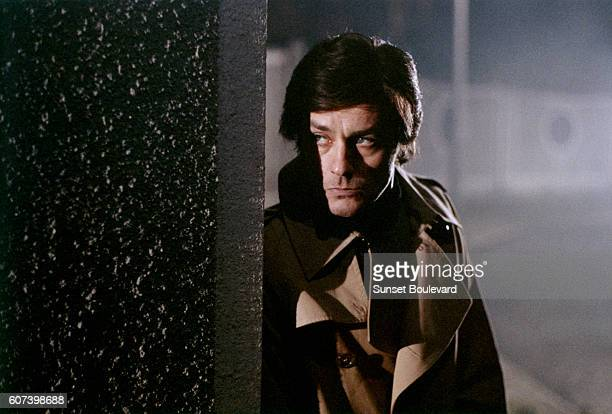 French actor Alain Delon on the set of Tony Arzenta directed by Italian Duccio Tessari