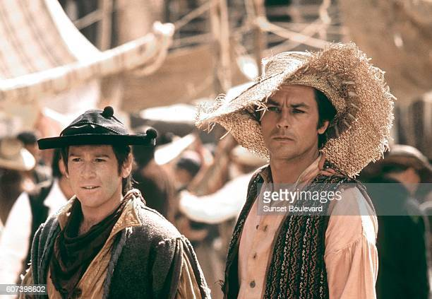 French actor Alain Delon on the set of Zorro directed by Italian Duccio Tessari