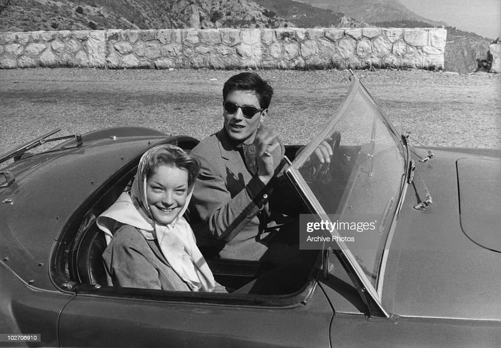 French actor <a gi-track='captionPersonalityLinkClicked' href=/galleries/search?phrase=Alain+Delon&family=editorial&specificpeople=228460 ng-click='$event.stopPropagation()'>Alain Delon</a> with his partner, actress <a gi-track='captionPersonalityLinkClicked' href=/galleries/search?phrase=Romy+Schneider&family=editorial&specificpeople=672667 ng-click='$event.stopPropagation()'>Romy Schneider</a> (1938 - 1982), circa 1960.