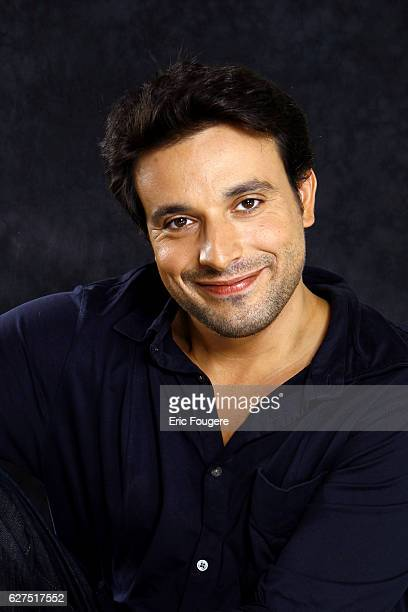 French actor and comedian Bruno Salomone on the set of television show 'Saturday Jacky Show'