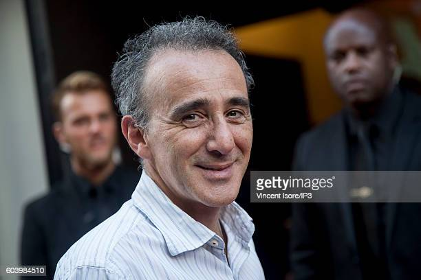French actor and comedian Elie Semoun attends a press conference of RTL radio which announces its 2016/2017 schedule on September 7 2016 in Paris...