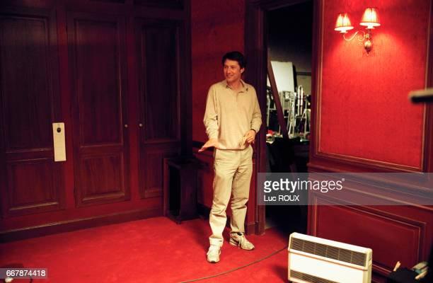 French actor and director Antoine de Caunes on the set of his film Les Morsures de l'Aube