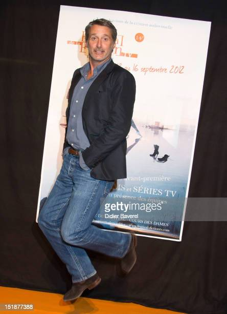 French actor and director Antoine de Caunes president of the jury attends the opening ceremony in La Coursive Theater at La Rochelle Fiction...