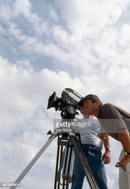 French actor and director Bernard Giraudeau during the filming of his first fulllength directing effort L'Autre
