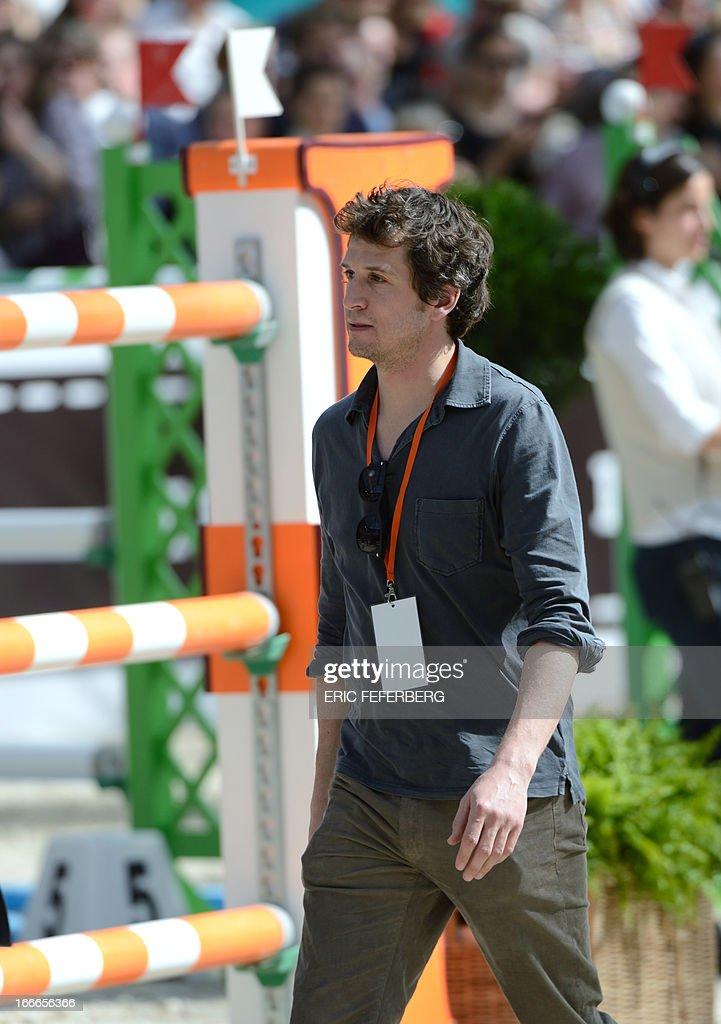 French actor and director Guillaume Canet attends on April 14, 2013 the jumping event of the Grand Prix Hermes of Paris at the Grand Palais in Paris. Born to a family of horse breeders, Canet intended to become a show jumper and performed with the junior French National Equestrian Team, but turned to acting after a fall from his horse at the age of 18.