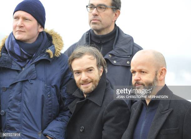 French actor and director Guillaume Gouix French actor Jonathan Lambert French director and screenwriter Dominik Moll and French director and...