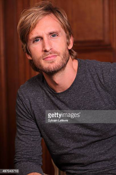 French actor and director Philippe Lacheau poses during photo session for screening of the film 'Babysitting 2' on November 13 2015 in Lille France