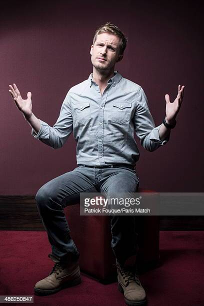 French actor and filmmaker Philippe Lacheau is photographed for Paris Match on March 31 2014 in Paris France