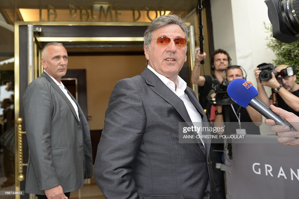 French actor and member of the Feature Film Jury Daniel Auteuil answers journalists' questions on May 14, 2013 as he arrives at the Martinez Hotel in Cannes to attend a photocall of the Jury on the eve of the 66th edition of the Cannes Film Festival. Cannes, one of the world's top film festivals, opens on May 15 and will climax on May 26 with awards selected by a jury headed this year by Hollywood legend Steven Spielberg.