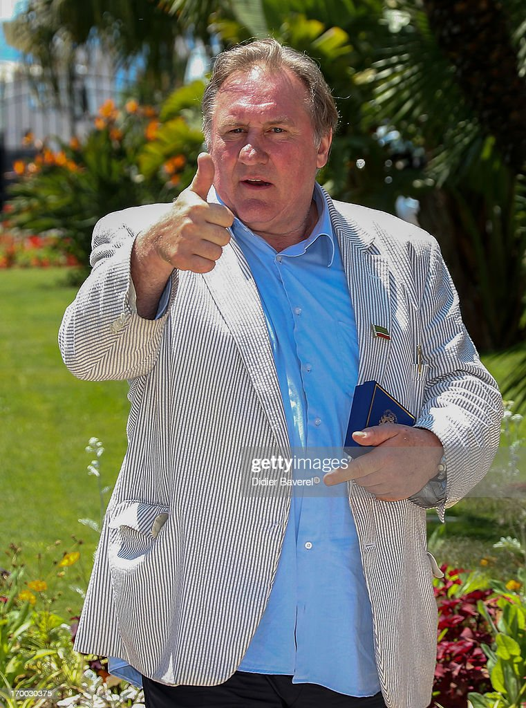 French actor and newly-minted Russian citizen <a gi-track='captionPersonalityLinkClicked' href=/galleries/search?phrase=Gerard+Depardieu&family=editorial&specificpeople=207073 ng-click='$event.stopPropagation()'>Gerard Depardieu</a> attends the Launch of First Russian Film Festival on June 6, 2013 in Nice, France.