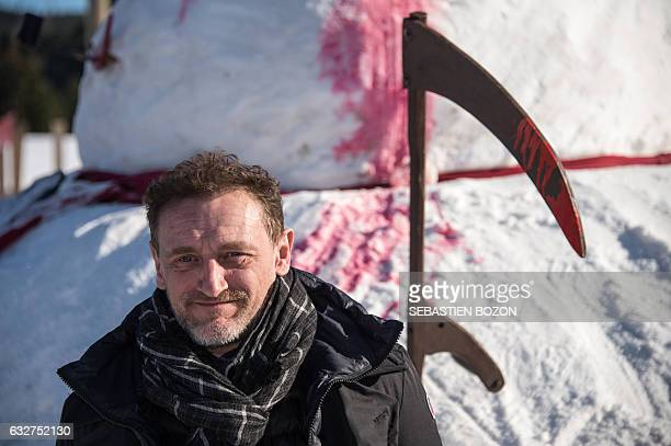 French actor and President of the jury of the 24th Geradmer fantastic film festival JeanPaul Rouve poses for photographers during a photocall in...