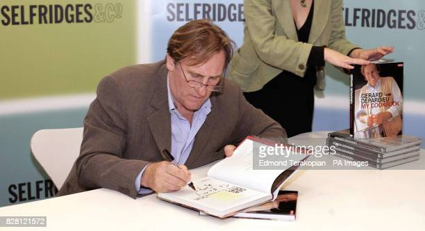 French actor and restauranteur Gerard Depardieu signs copies of 'My Cookbook' at Selfridges central London Thursday 15 September 2005 PRESS...