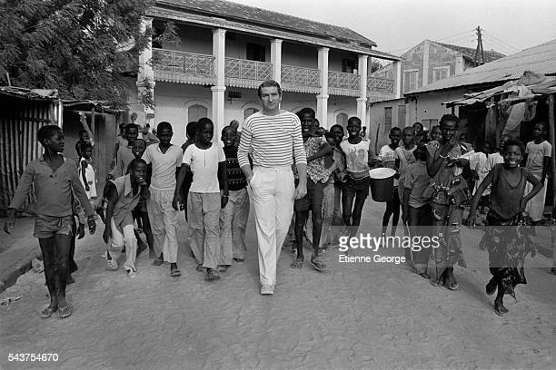French actor and singer Eddy Mitchell on the movie set of Coup de Torchon directed by Bertrand Tavernier