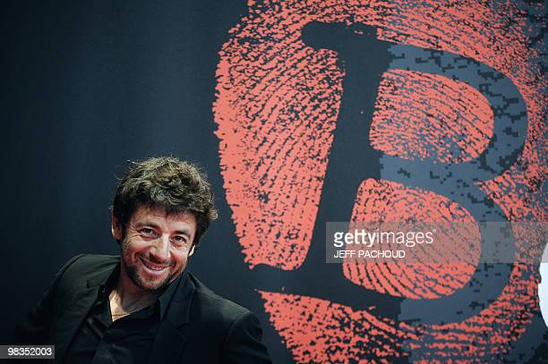 French actor and singer Patrick Bruel poses during a photocall on April 9 2010 during the 2nd edition of the International crime thriller movie...