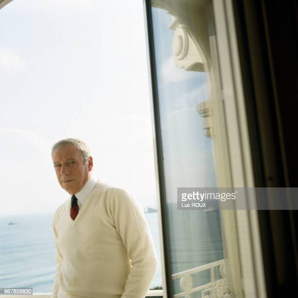 French actor and singer Yves Montand during the Cannes Film Festival where he is president of the jury