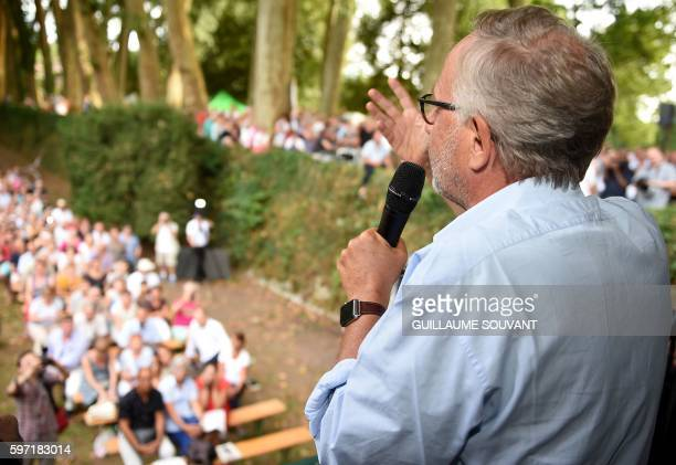 French actor and writer Fabrice Luchini speaks during the 21th book fair La Foret Des Livres on August 28 2016 in ChanceauxprèsLoches central France...