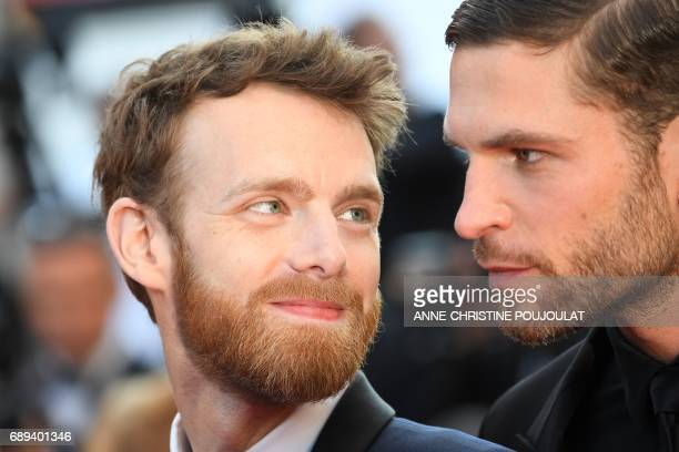 French actor Antoine Reinartz and French actor Arnaud Valois arrive on May 28 2017 for the closing ceremony of the 70th edition of the Cannes Film...