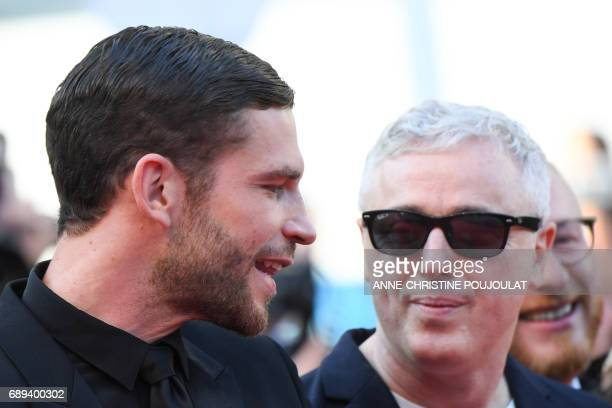 French actor Arnaud Valois and French director Robin Campillo arrive on May 28 2017 for the closing ceremony of the 70th edition of the Cannes Film...