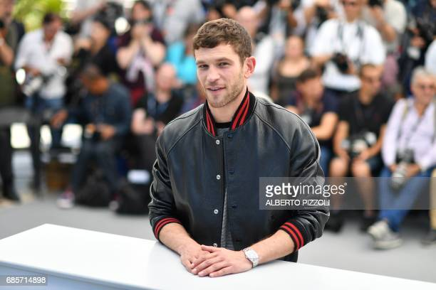 French actor Arnaud Valois poses on May 20 2017 during a photocall for the film '120 Beats Per Minute ' at the 70th edition of the Cannes Film...